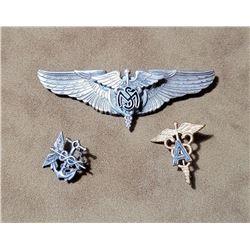 WW2 Sterling Silver Flight Surgeon Pilot Wings