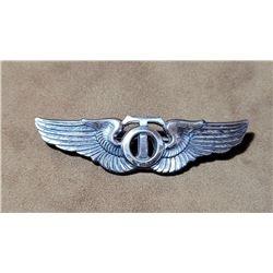 "WW2 Sterling Silver Technical Observer Wings 3"""
