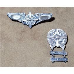 Korea Sterling Silver Engineer Wings Radio Medal