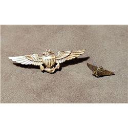 WW2 US Navy Balfour Gold Filled Pilot Wings