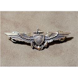 Korean War Gold Filled US Navy Pilot Wings.