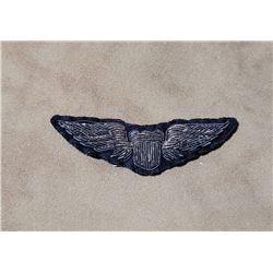 WW2 US Army Air Corps Bullion Pilot Wings CBI