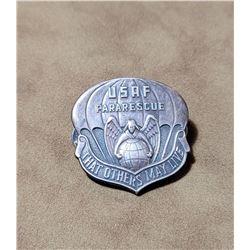 Korean War USAF Pararescue Sterling Silver Badge
