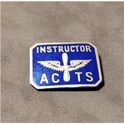 US Army Air Corps Tactical School Instructor Badge