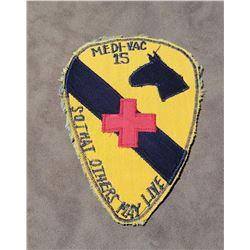 Vietnam 7th Cavalry Medi Vac Patch Original