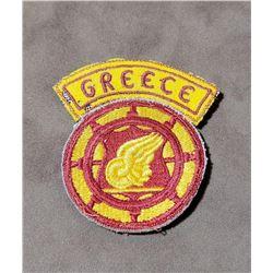 Original WW2 Army Transport Command Patch Greece