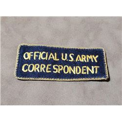 WW2 Theater Made US Army Correspondent Patch