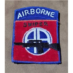 Vietnam Theater Made Army Airborne Sniper Patch