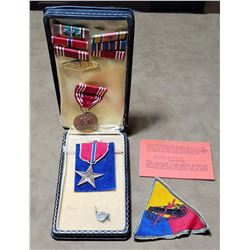 WW2 Bronze Star Grouping Named 750th Tank