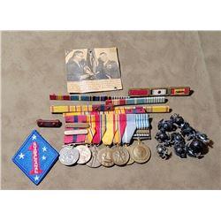 WW2 Named USMC Marine Corps Medal Lot