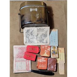 Identified WW2 Japanese Soldier Mess Kit Contents