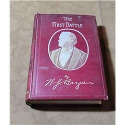 The First Battle W.J. Bryan Presentation Book