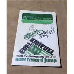 Evel Knievel Signed Magazine Butte Montana