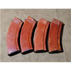 Lot of 4 AK 47 and AK 74 Bakelite Magazines