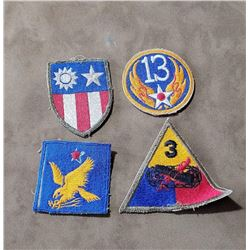 Lot of 4 WW2 Patches