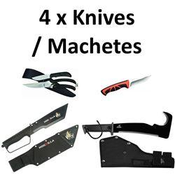4 x Knives/ Machete