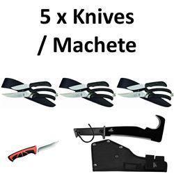 5 x Knives/Machete