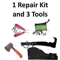 1 x Repair Kit & 3 x Tools