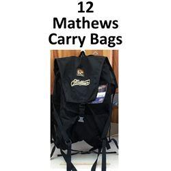 12 x Mathews Carry Bags