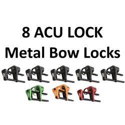 8 x ACU LOCK Metal Bow Locks