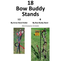 18 x Bow Buddy Stands