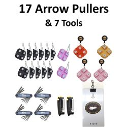 17 x Arrow Pullers & 5 Tools