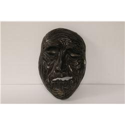 MARY BORGSTROM BLACK CLAY FACE POTTERY SCULPTURE