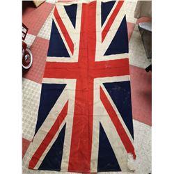 ANTIQUE UNION JACK NAVAL FLAG