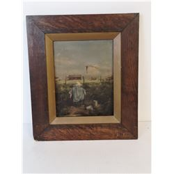 1800S ANTIQUE BOY PAINTING OIL ON CANVAS