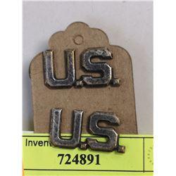 WW2 US MILITARY LAPEL PIN SET