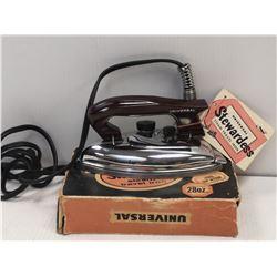 1950S STEWARDESS TRAVEL IRON UNUSED IN BOX