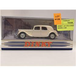 DINKY 1:43 1952 CITROEN 15 CB MODEL CAR