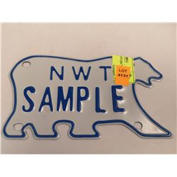 NWT SAMPLE MOTORCYCLE LICENSE PLATE