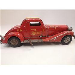1920S LARGE FIRE CHIEF CLOCKWORK CAR