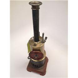 ANTIQUE UPRIGHT STEAM ENGINE MODEL