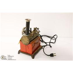 ANTIQUE WEEDEN ELECTRIC STEAM ENGINE MODEL