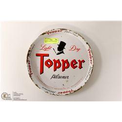 VINTAGE TOPPER PILSENER BEER TRAY
