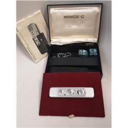 MINOX C SPY CAMERA WITH BOX AND CASE