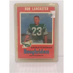 1971 RON LANCASTER CFL FOOTBALL CARD