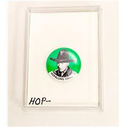 1940S GREEN HOPALONG CASSIDY BUTTON