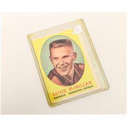 1958 LEIGH MCMILLAN EDMONTON CFL ROOKIE CARD