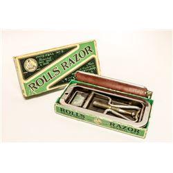 ANTIQUE ROLLS RAZOR SAFETY RAZOR IN BOX