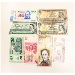 ASSORTMENT VINTAGE AND WORLD CURRENCY BILLS
