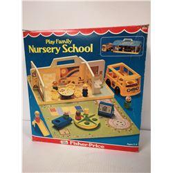 1978 FISHER PRICE NURSERY SCHOOL PLAYSET IN BOX