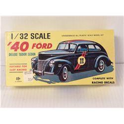 1950S 1940 FORD  RACE CAR MODEL KIT UNBUILT