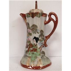 ANTIQUE JAPANESE GILDED TEAPOT WITH LID