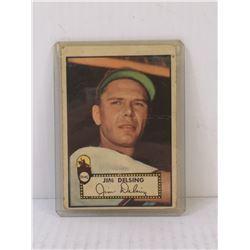 1952 TOPPS JIM DELSING BASEBALL CARD