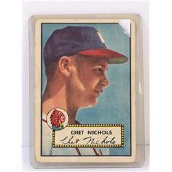 1952 TOPPS CHET NICHOLS BASEBALL CARD