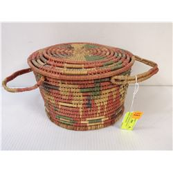 ANTIQUE INDIGENOUS WOVEN BASKET FROM MARYS