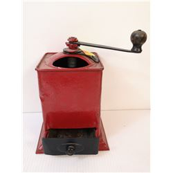 ANTIQUE TABLE TOP COFFEE GRINDER